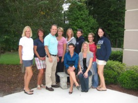 Kate with Dr. Boitet and staff in Tampa