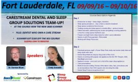 SGS Team-up with Carestream Dental and Benco for Upcoming Ft. Lauderdale Sleep Apnea Seminar