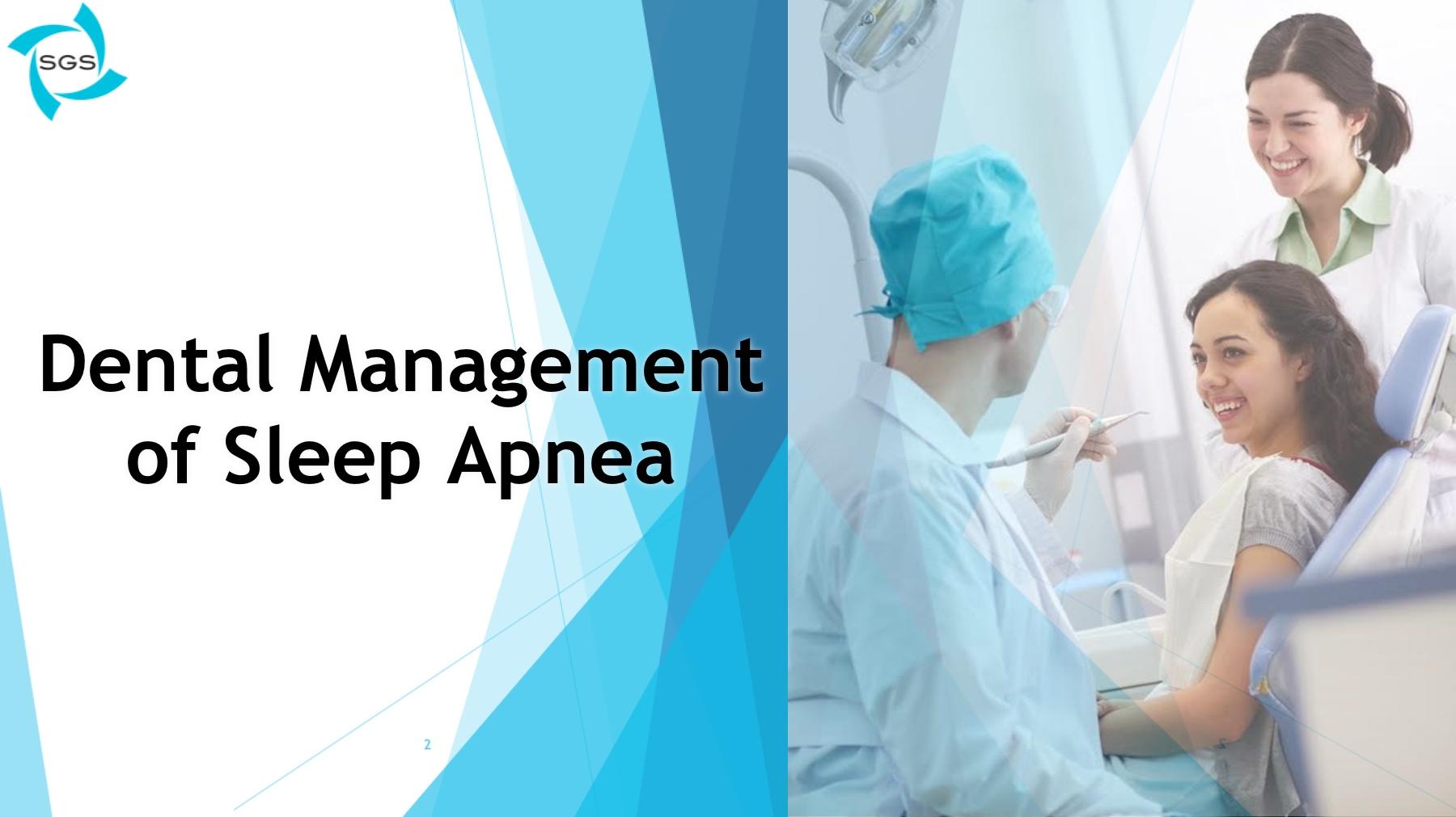 dental management of sleep apnea